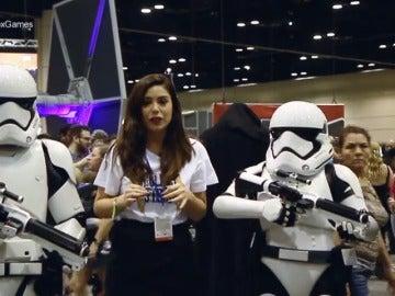 Frame 21.053678 de: 'Neox Games' celebra los cuarenta años de Star Wars en Orlando