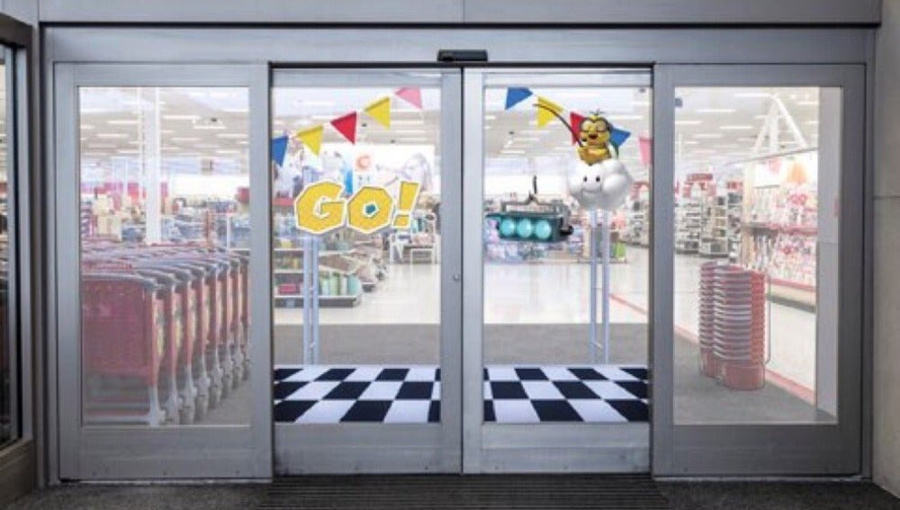 Línea de salida en supermercado