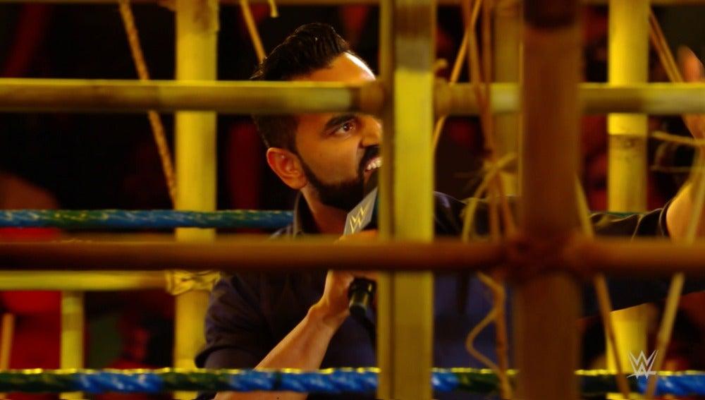 Jinder Mahal abre el show para presentar la prisión de Punjabi a la WWE