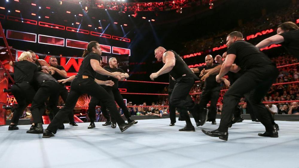 Los cuatro participantes en el combate por el título Universal se dan con todo en el último RAW antes de SummerSlam.