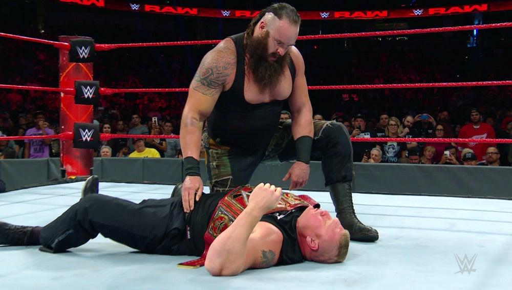Braun Strowman destroza a Brock Lesnar y John Cena la misma noche