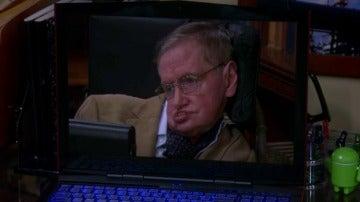 Sheldon y sus colegas disfrutan de la aparición estelar de Stephen Hawking