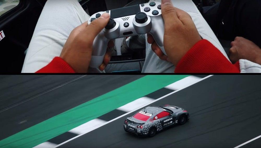 Conducción del Nissan GT/R con el mando de PS4