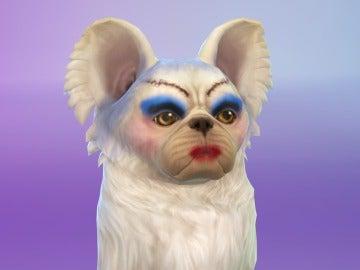 Perro decorado en Los Sims