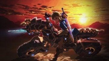 Link en la moto del nuevo DLC