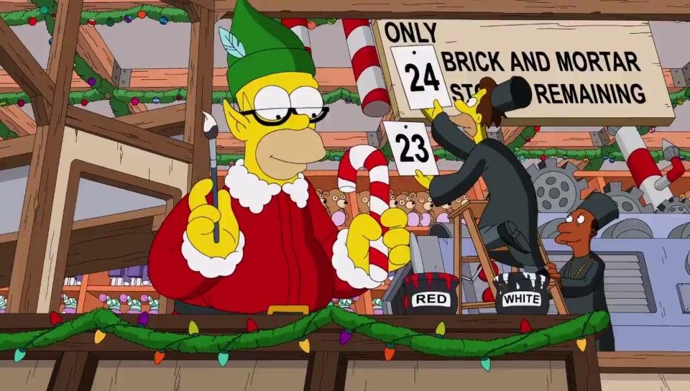 'Los Simpson' dan la bienvenida a la navidad con esta divertida cabecera