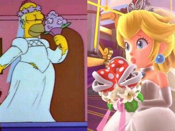 Homer Simpson y Peach