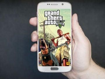 Pantalla de GTA V en smartphone