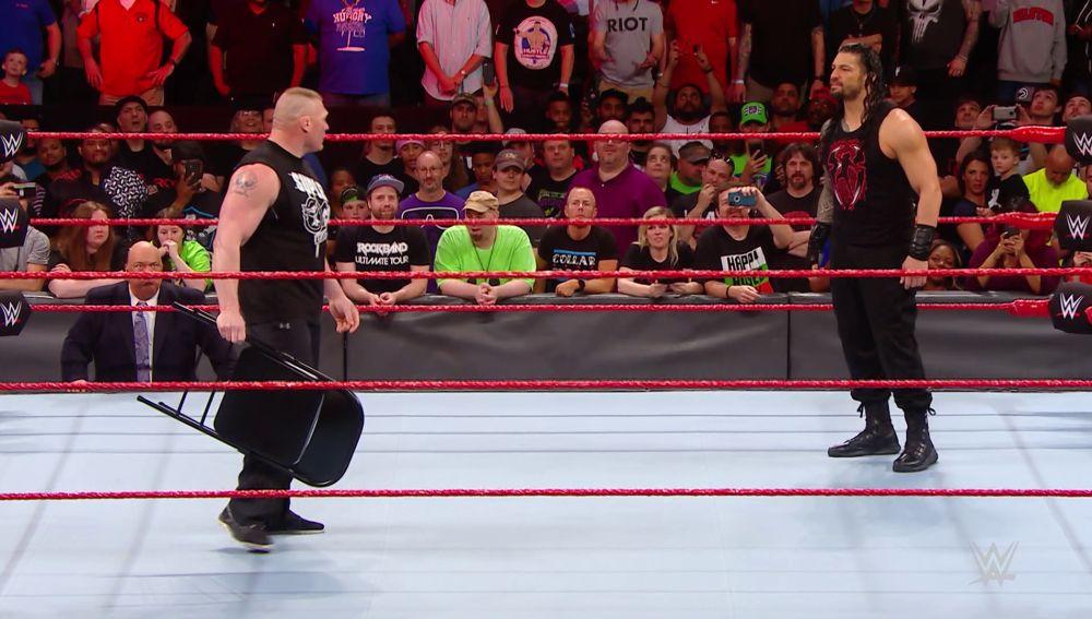 Último cara a cara entre Reigns y Lesnar antes de Wrestlemania