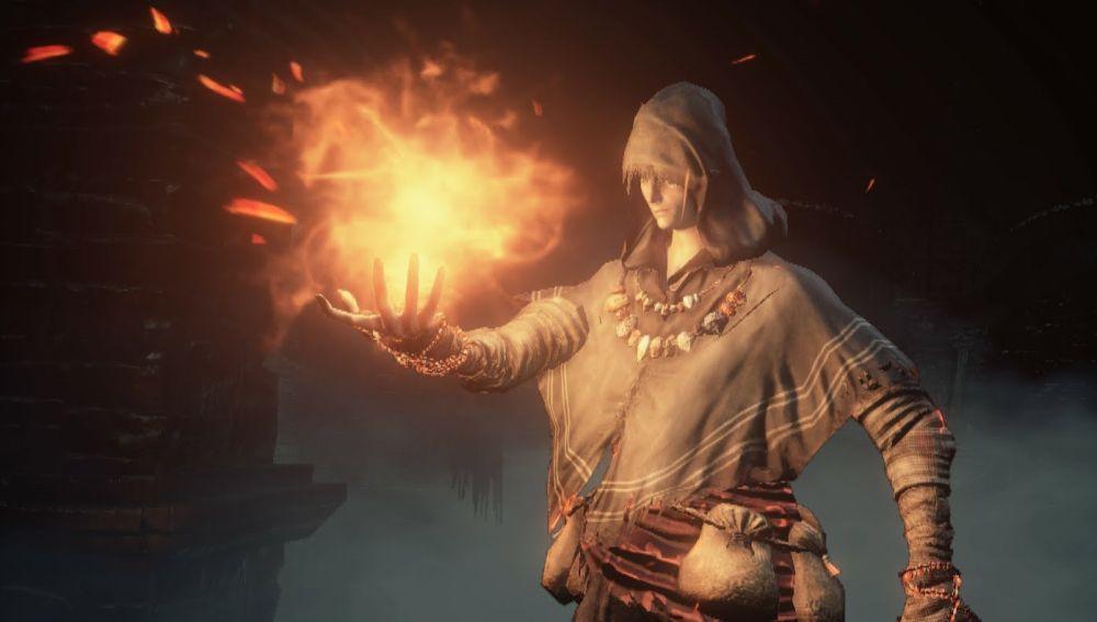 El piromante en Dark Souls