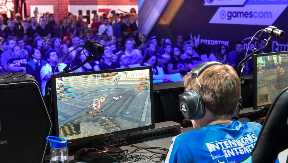Jugadores en la Gamescom