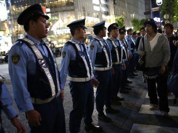 Policías en Japón