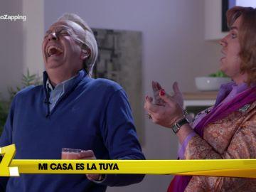 Paquita Salas se come to el jamón de Bertín