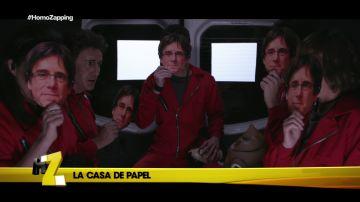 La cara de Puigdemont, las nuevas máscaras de 'La casa de papel'