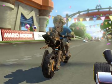 Link de Breath of the Wild en Mario Kart 8 Deluxe