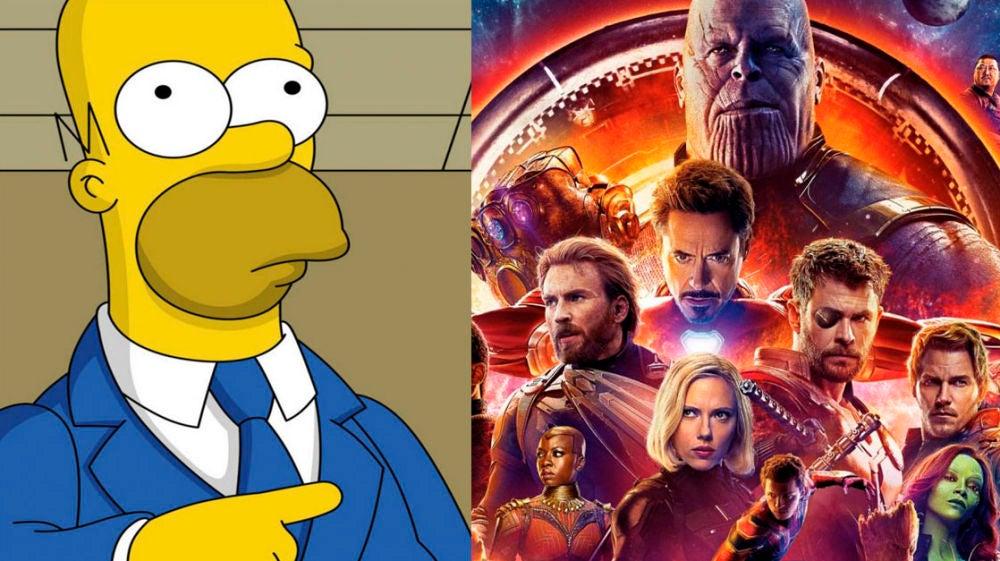'Los Simpson' y 'Vengadores: Infinity War'