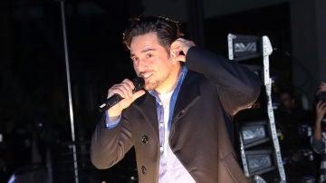 David Bustamante durante su actuación en Valencia