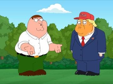Peter Griffin y Donald Trump