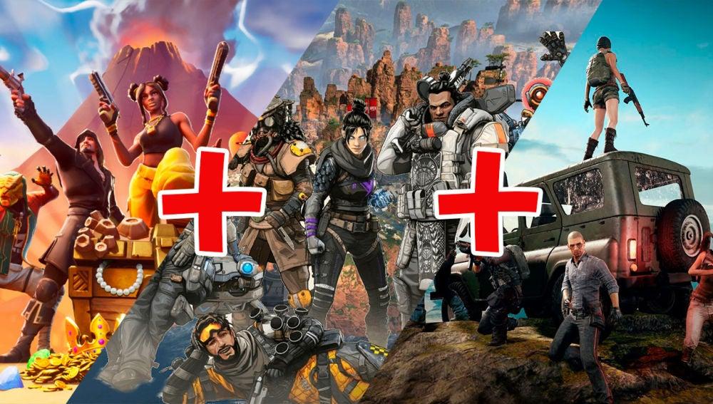 Fortnite, Apex Legends, PUBG