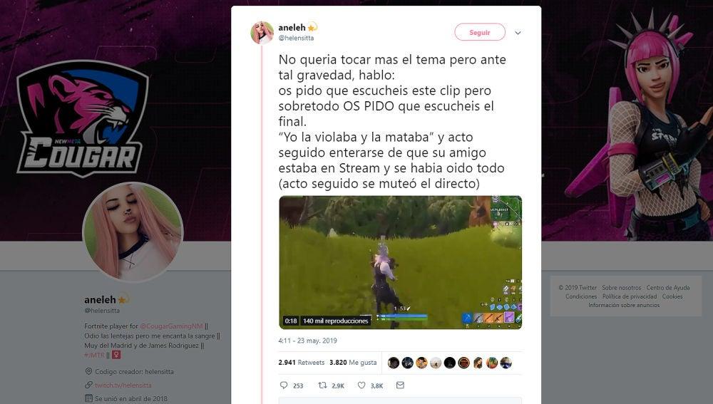 La jugadora Aneleh protesta contra el machismo en los juegos