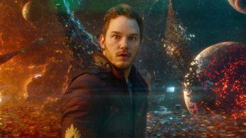 Chris Pratt como Star-Lord en 'Guardianes de la Galaxia'