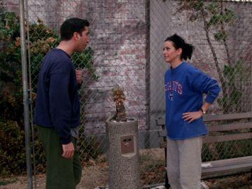 Monica y Ross compiten por la 'Copa Geller'