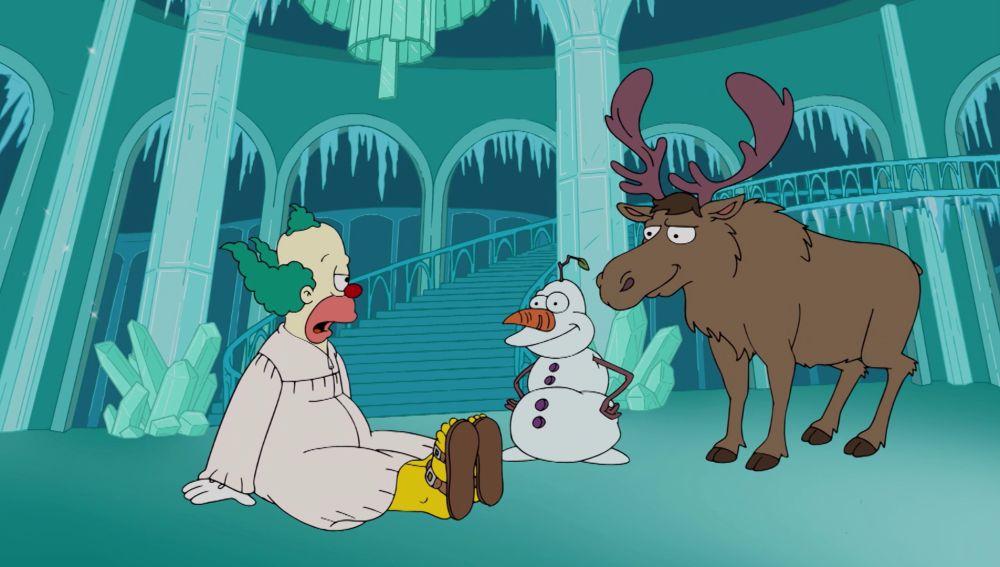 'Frozen' se cuela en un capítulo de 'Los Simpson'