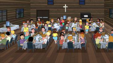 La familia Griffin se va a un campamento cristiano