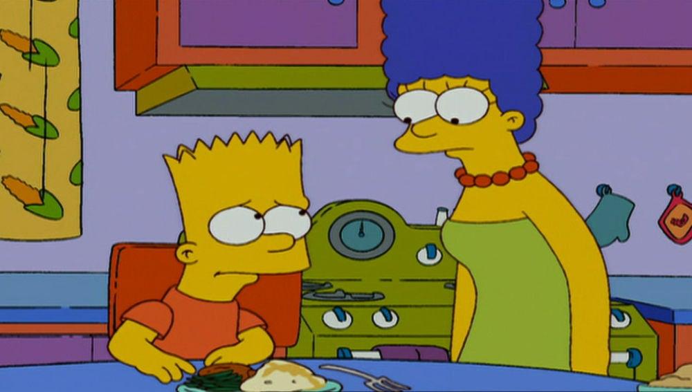 Bart preocupado por Lou