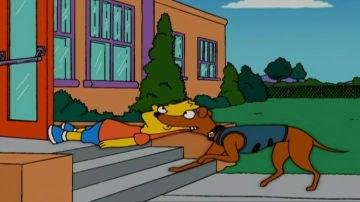 Bart, rescatado por el ayudante de Santa