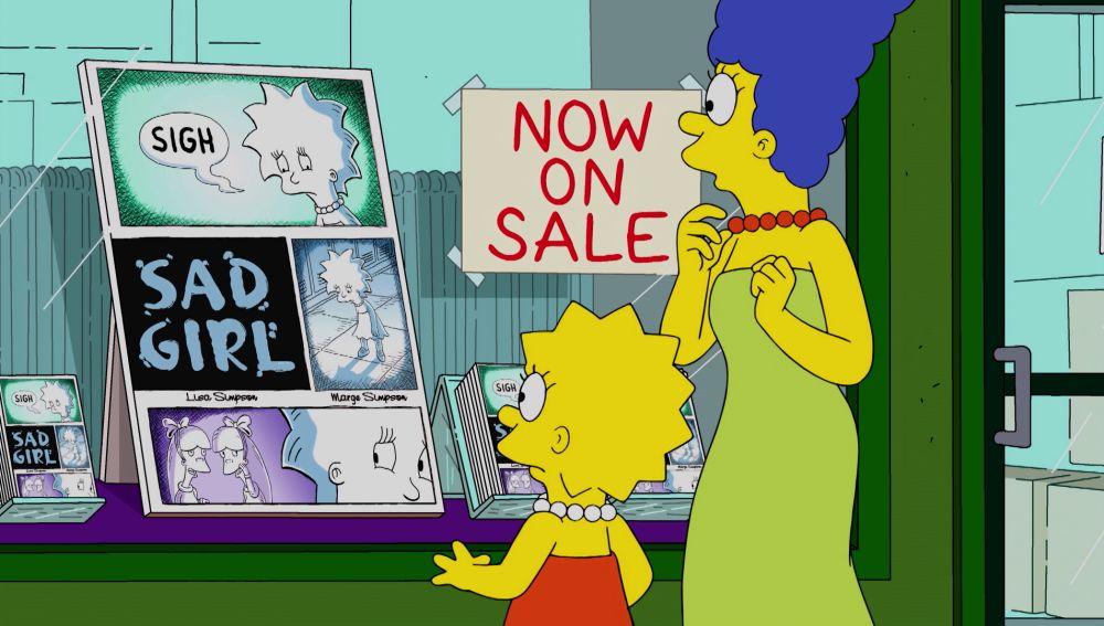 Lisa y Marge triunfan creando un cómic