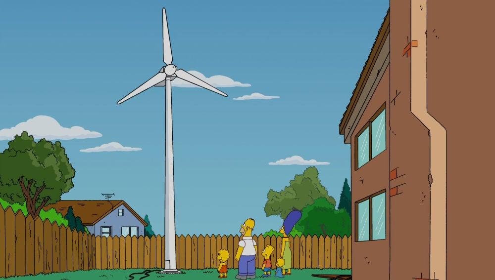 Los Simpson se vuelcan por el clima
