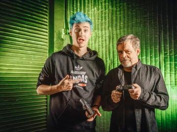 Ninja y Mark Hamill, a punto de jugar a Fortnite