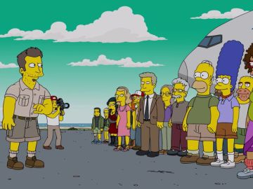 Homer y Marge participan en un reality de supervivencia