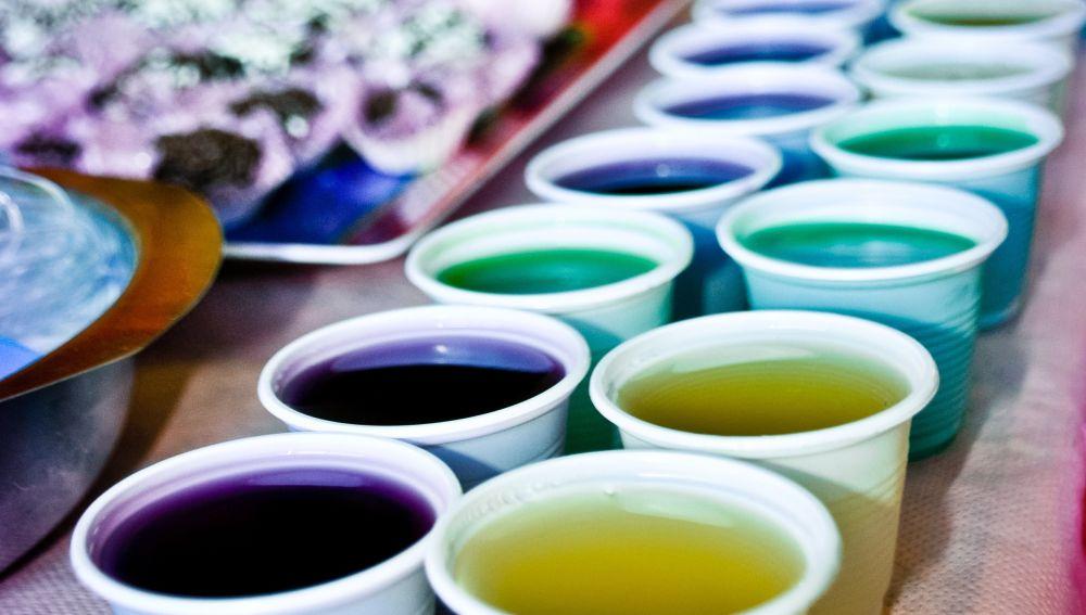 Gelatinas de varios colores