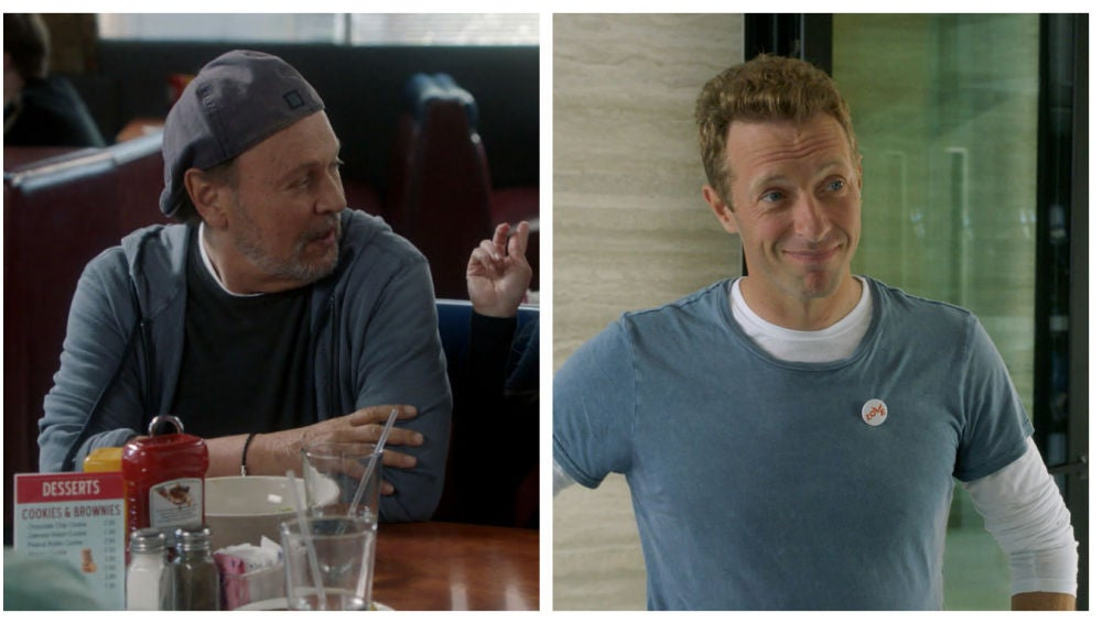 Chris Martin y Billy Crystal