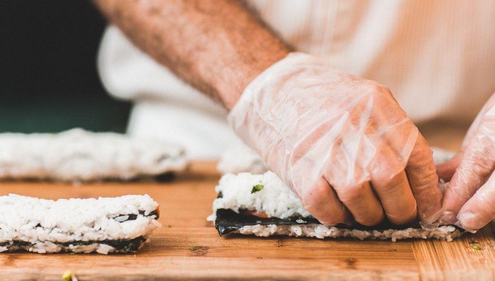 Preparación de sushi