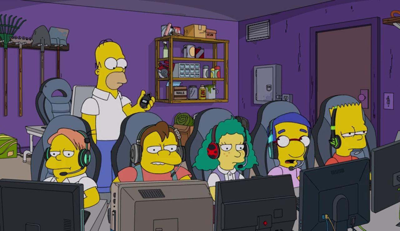 Homer se convierte en entrenador de Bart