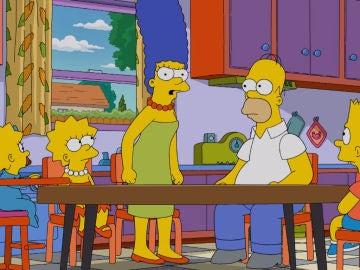 La familia Simpson al completo