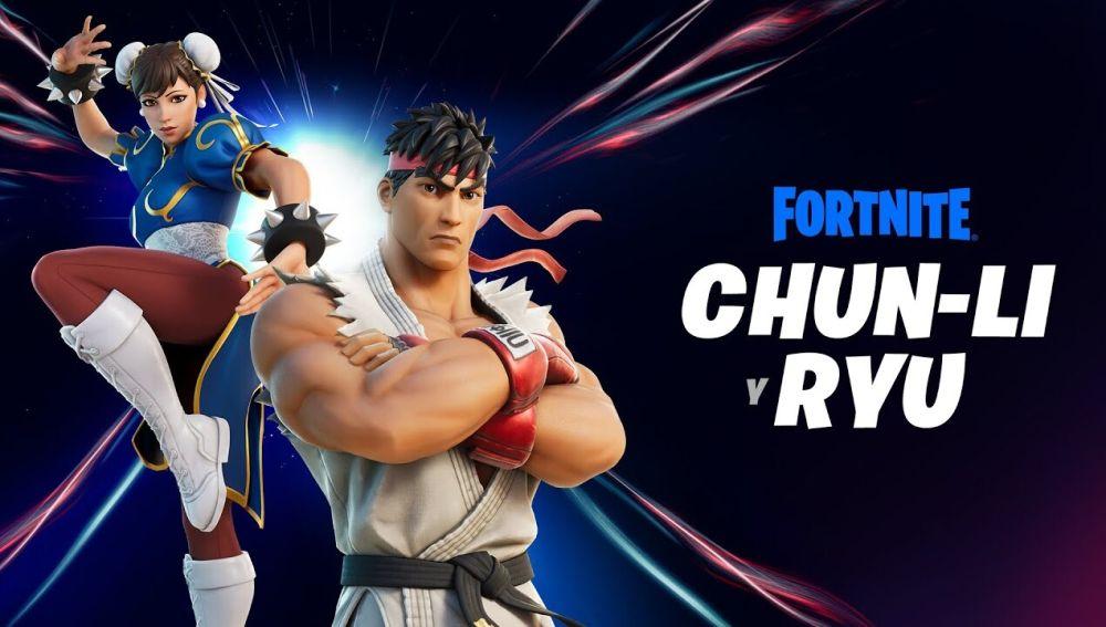 Ryu y Chun-Li en Fortnite