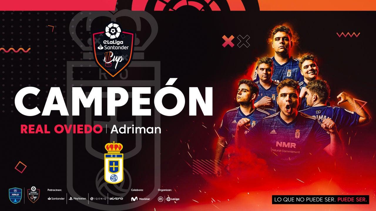 El Real Oviedo, campeón de la eLaLiga Santander Cup