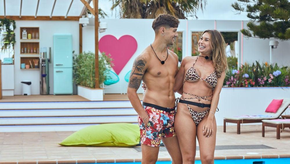 Celia y Miguel, pareja en el primer programa de Love Island