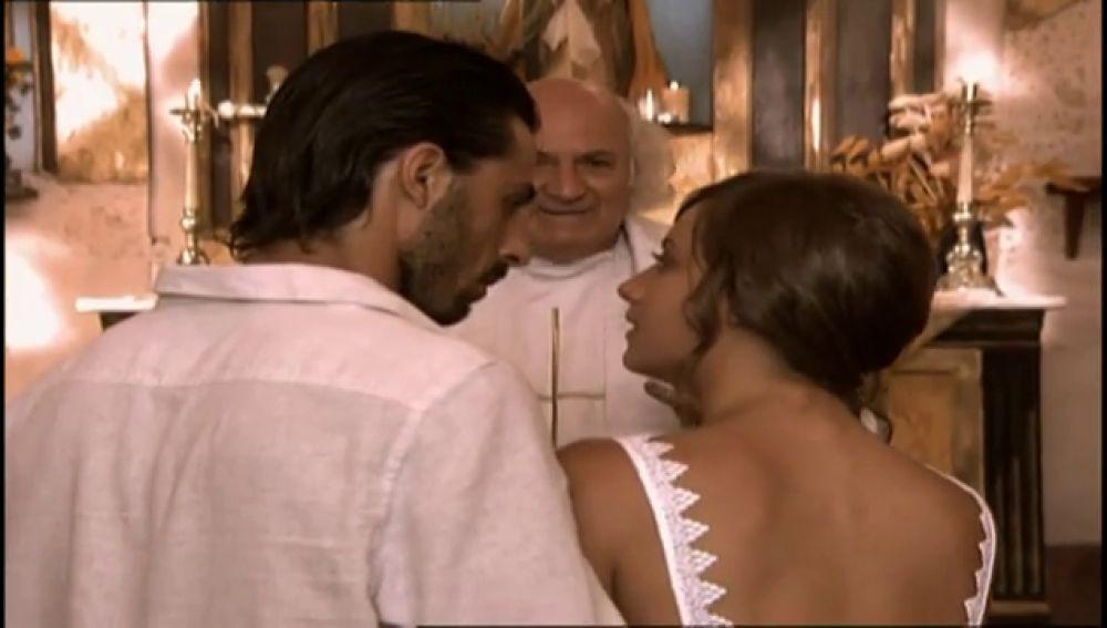 La dramática boda de Lucas y Sara