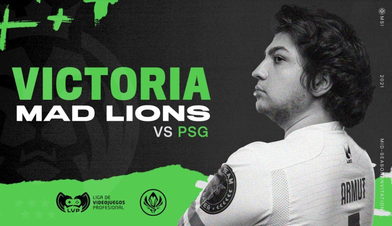 MAD Lions debuta con victoria en el MSI 2021