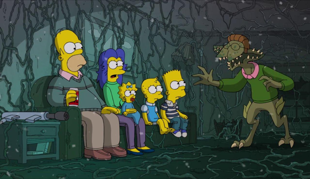 'Los Simpson' homenajean a 'Stranger Things' en este capítulo especial