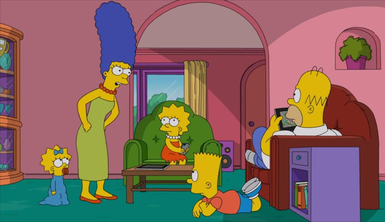 Marge, enfadada con su familia