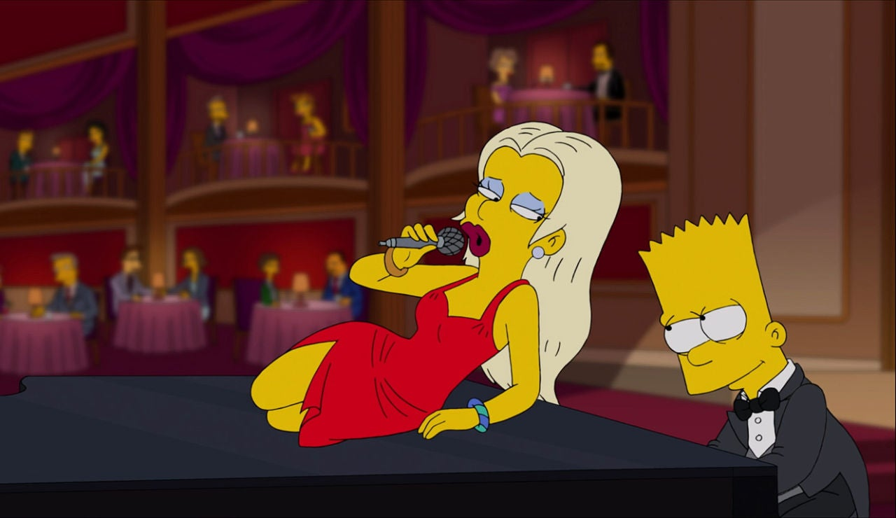 Bart se enamora de la profesora de piano