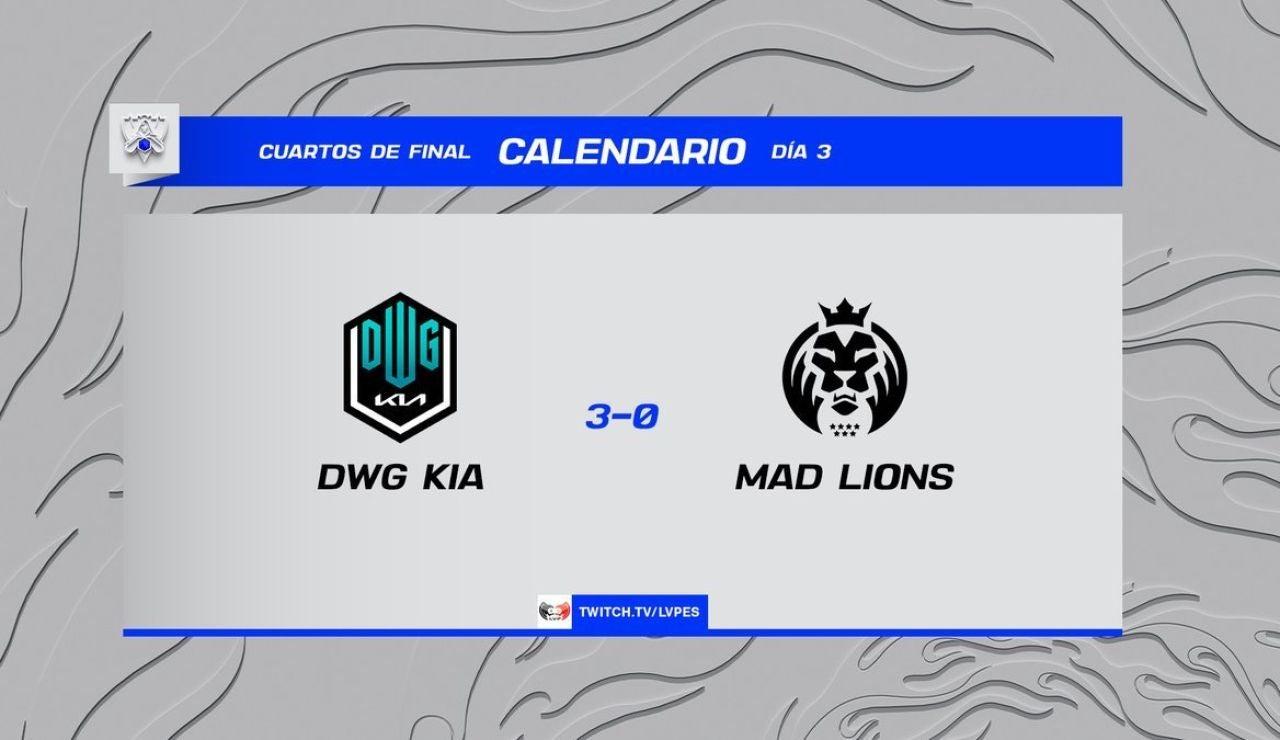 MAD Lions cae ante DAMWON en los cuartos de final de los Worlds